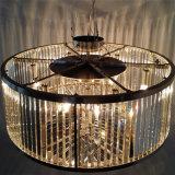 現代現代的なホテルのロビーの円形の水晶ペンダント灯
