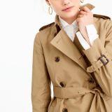 주름을 잡은 트렌치 재킷을%s 가진 Ladi 느슨한 재킷