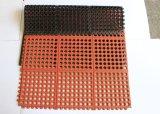 連結のAnti-Fatigue排水のゴム製マット、台所床のマット