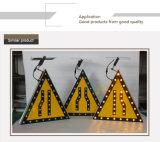 Kundenspezifisches bernsteinfarbiges blinkendes LED-helles SolarAluminiumverkehrszeichen