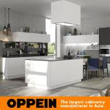 Современное здание белого цвета Oppein серый матовый лак деревянные кухонные шкаф (OP16-L18)