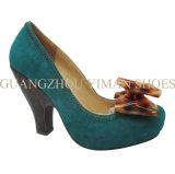 Madame Shoe (YMD002089-2) de suède de haut talon
