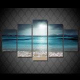 HD a estampé la toile Mc-093 d'illustration d'affiche d'impression de décor de pièce d'impression de toile de peinture de coucher du soleil de mer d'océan de plage