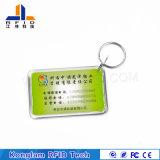 ВлагостойкfNs карточка PVC RFID Keychain для идентификации продукта
