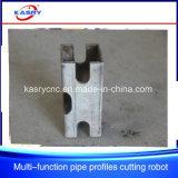 Leistungsfähige 3 in 1 quadratisches rundes Rohr-Profil-rechteckigem Gefäß CNC-Plasma-Flamme-Ausschnitt und in abschrägenfertig werdener Maschine