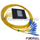 Tipo de ABS de alta precisión 1X8 PLC Splitter de fibra óptica FTTH