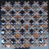 Mosaico mezclado caliente del vidrio y de la resina de la venta para la pared
