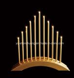 Diversas clases de lámpara de puente con pilas de las velas