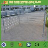 China Abastecimiento de la fábrica 6 carriles Oval Tube Cattle Fence Panel
