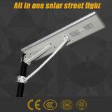 Tutti in un indicatore luminoso di via solare di 30W LED per 7-8m Palo con la batteria di litio