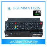 Het heetste Nieuwe Product Zgemma H5.2s met de TweelingSteun Hevc/H. 265 van de Ontvanger van Tuners Bcm73625 dvb-S2+S2 Satelliet