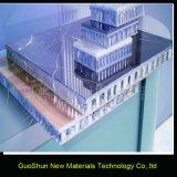 建築材料の塗られたカーテン・ウォールが付いているアルミニウム蜜蜂の巣のパネル