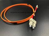 Duplex ottico Sc/Upc di modo del cavo di zona della fibra multi