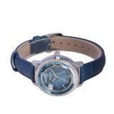 재고 숙녀 석영 가죽 다이아몬드 매력 숙녀 시계 여자 손목 시계에서