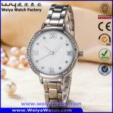 Таможня женщины наблюдает Wristwatch нержавеющей стали движения кварца японии (WY-17002B)
