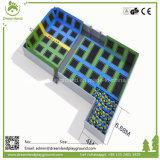 Rechteckige kundenspezifische Vergnügungspark-springende Innentrampoline mit Schaumgummi-Vertiefung
