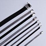 Fascetta ferma-cavo rivestita dell'acciaio inossidabile del PVC - L tipo 12X200mm