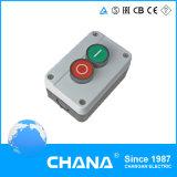 Cassetta di controllo verde a livello dei 3 della molla pulsanti di ritorno 2