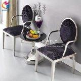 椅子Hly-St18を食事する丸背の金か銀製のステンレス鋼の結婚式