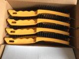 Spazzola di filo di acciaio di plastica lunga nera della maniglia di colore 290mm