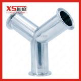 Tri Y T di pressione dell'acciaio inossidabile SS304 di risanamento igienico