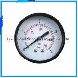 contador de la presión de neumático del contador de la Gas-Presión de 60m m