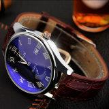 H307 de gama alta de los hombres reloj de pulsera de cuero resistente al agua Reloj calendario con puntero luminoso