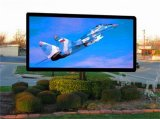Afficheur LED polychrome fixe extérieur de HD P6 annonçant le panneau