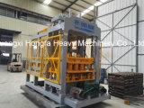 Bloco automático que faz a maquinaria o tijolo concreto do cimento obstruir a fatura da máquina
