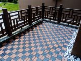 プラスチック製のデッキのタイルの木製のプラスチック合成物WPCをかみ合わせる屋外DIY