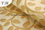 Tessuto generoso del sofà e della mobilia del jacquard 2017 con i fogli giallo-chiaro