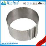 Forme ronde extensible de moulage de gâteau de traitement au four d'acier inoxydable d'usine