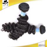 Выдвижение естественных человеческих волос девственницы цвета бразильских Unprocessed