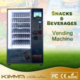 Máquina expendedora de Harga del alimento frío para utilizar de la tarjeta de crédito