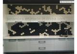 95X110 glasig-glänzende dunkle graue Hexagon-Porzellan-Mosaik-Kristallfliese für Intrior und Extrior Gebrauch