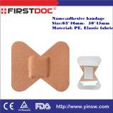 Emplâtre adhésif de blessure élastique de forme de guindineau de fourniture médicale