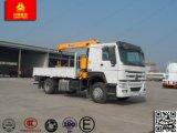 기중기를 가진 평상형 트레일러 트럭 4WD 20 톤에 의하여 트럭 거치되는 기중기