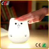 Le Silicium mignon coloré Animal LED portable Night Light Décoration maison Lampe à LED Lampes de table