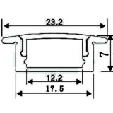 Profil en aluminium led pour bande LED Bar