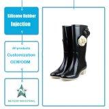 Mode antipatinage personnalisé étanche High Heels bottes de pluie en caoutchouc de silicone de moulage par injection