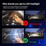 H11 9005 9006 9007 bulbo lateral do farol do diodo emissor de luz do carro do poder superior três 8000lm H4 H7