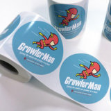Producto impreso personalizado Sticker adhesivo transparente impresa