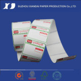 Étiquette thermique de transfert de vente chaude thermique d'étiquette