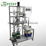 Destilación de vacío del camino corto del vidrio de Borosilicate para la venta