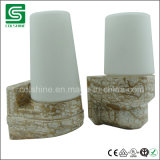 Lámpara de la sauna de Coshine con la base de cerámica de la lámpara para el baño Linder
