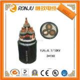 Подземный электрический бронированный силовой кабель 25mm сердечника кабеля 4 3 силовой кабель участка 35mm 50mm 70mm 95mm 120mm 185mm