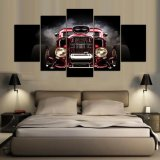 5 Parts Printed Paintings Because Painting Wall Art Canvas Modular Living room Room Bedroom Home Decoration Framed Art