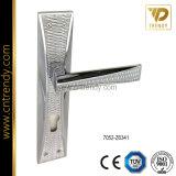 La quincaillerie de porte de la poignée de verrouillage de zinc de meubles avec la plaque arrière (7061-z6368s)