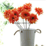 Commercio all'ingrosso artificiale abbastanza bianco caldo della margherita della seta del gambo del fiore artificiale della margherita singolo