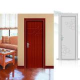 Portes en bois solides avec la peinture de placage pour la maison résidentielle